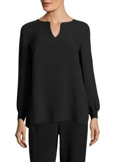 Lafayette 148 New York Ariel Silk Double Georgette Blouse