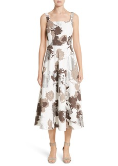 Lafayette 148 New York Arlene Print Midi Dress