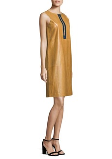 Lafayette 148 New York Ashby Leather Shift Dress