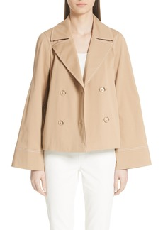 Lafayette 148 New York Asher Gabardine Crop Trench Coat
