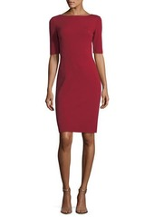 Lafayette 148 Asymmetric-Seamed Punto Milano Sheath Dress