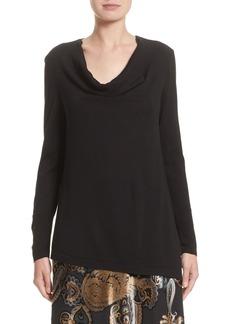 Lafayette 148 New York Asymmetrical Cowl Neck Sweater