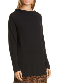 Lafayette 148 New York Asymmetrical Neck Sweater