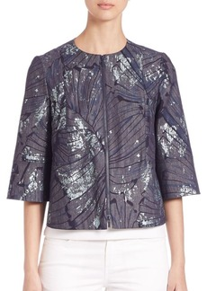 Lafayette 148 New York Athea Etched Palm Denim Jacket