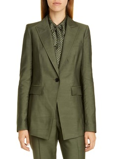 Lafayette 148 New York Atticus Pickstitch Blazer