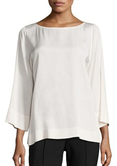 Lafayette 148 New York Aubrianna Textured Matte Crepe Blouse