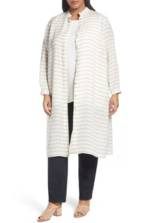 Lafayette 148 New York Auden Stripe Tunic (Plus Size)
