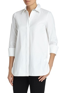 Lafayette 148 New York Augusta Stretch Cotton Shirt