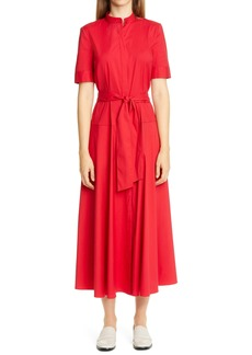 Lafayette 148 New York Augustina Belted Midi Shirtdress