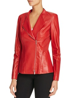 Lafayette 148 New York Austin Leather Jacket