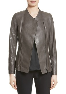 Lafayette 148 New York Austin Perforated Lambskin Leather Jacket (Nordstrom Exclusive)