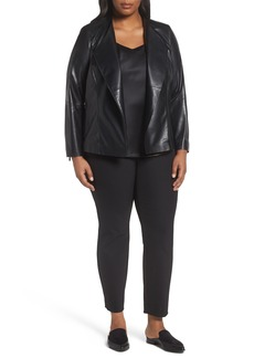 Lafayette 148 New York Austin Perforated Leather Jacket (Plus Size)
