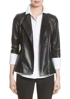 Lafayette 148 New York Austin Perforated Nappa Leather Jacket (Nordstrom Exclusive)