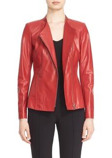 Lafayette 148 New York 'Austin' Tissue Weight Lambskin Leather Jacket