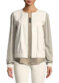 Lafayette 148 New York Aviana Laminated Leather Jacket