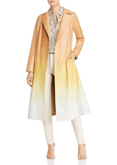 Lafayette 148 New York Avrielle Ombr� Leather Trench Coat