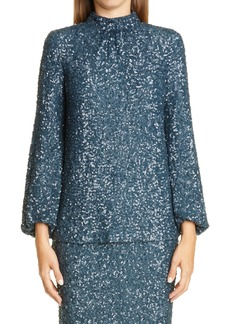 Lafayette 148 New York Axton Sequin Blouse