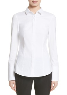 Lafayette 148 New York Azra Jersey Sleeve Blouse (Nordstrom Exclusive)