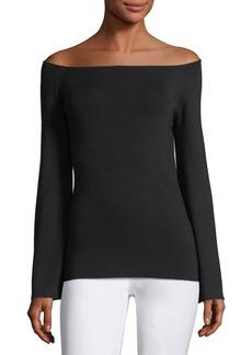 Lafayette 148 Ballerina-Neck Italian Silk Sweater