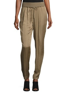 Lafayette 148 New York Barclay Ribbed-Waist Pants