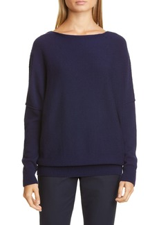 Lafayette 148 New York Bateau Neck Cashmere Sweater