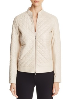 Lafayette 148 New York Becks Quilted Moto Jacket