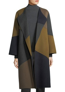 Lafayette 148 New York Belissa Colorblocked Double-Faced Reversible Coat