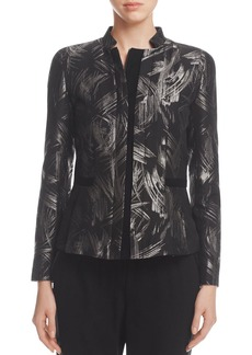 Lafayette 148 New York Belle Metallic Abstract Print Jacket