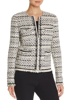 Lafayette 148 New York Benji Tweed Zip-Front Jacket