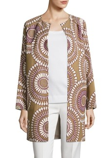 Lafayette 148 Berkeley Faille Medallion Coat