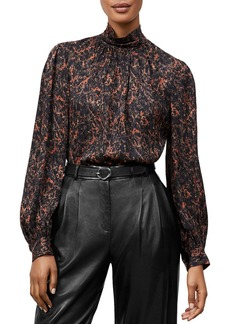 Lafayette 148 New York Bexley Printed Silk Blouse