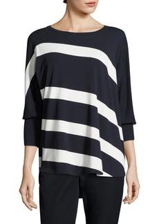Lafayette 148 New York Bi-Color Stripe Sweater