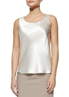 Lafayette 148 New York Bias Luxe Silk Charmeuse Tank