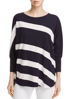Lafayette 148 New York Bicolor Stripe Sweater