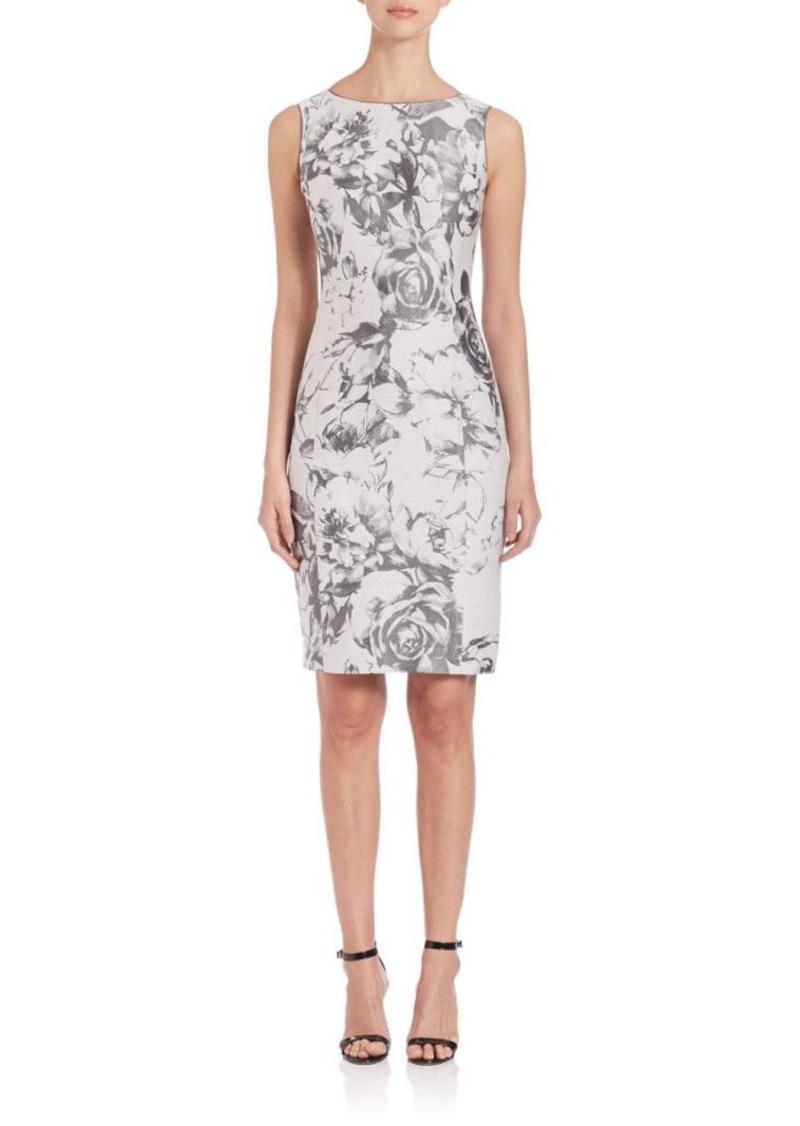 Lafayette 148 New York Botanical Splash Jacquard Carmela Dress