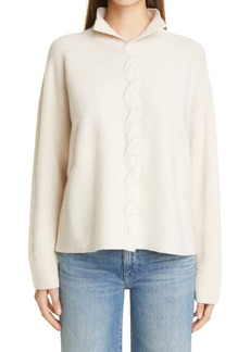 Lafayette 148 New York Braided Front Cashmere Sweater
