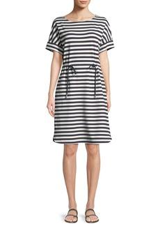 Lafayette 148 New York Brandon Bedford Striped Drawcord Dress