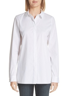 Lafayette 148 New York Brayden Excursion Stretch Blouse