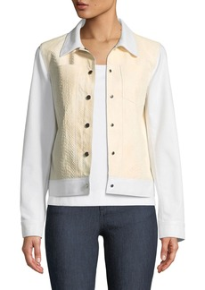 Lafayette 148 Braylon Denim & Leather Jacket