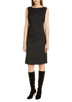 Lafayette 148 New York Brett Stretch Wool Sheath Dress