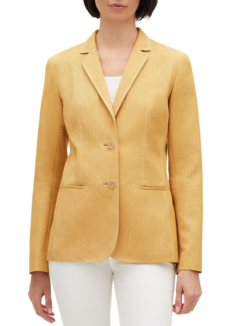 Lafayette 148 New York Briallen Brilliance Cloth Two-Button Blazer