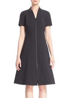 Lafayette 148 New York 'Briella' Zip Front A-Line Dress (Regular & Petite)