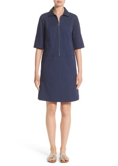 Lafayette 148 New York Brinley Stretch Cotton Shirtdress