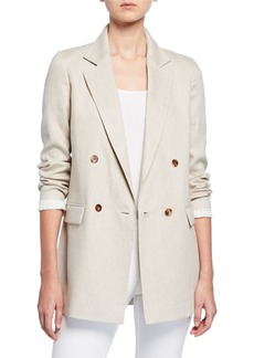 Lafayette 148 New York Britton Bespoke Weave Double-Breasted Jacket