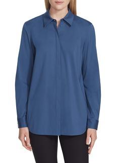 Lafayette 148 New York Brody Cotton Blend Shirt