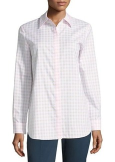Lafayette 148 New York Brody Gingham Blouse