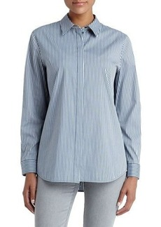 Lafayette 148 New York Brody Striped Long-Sleeve Top