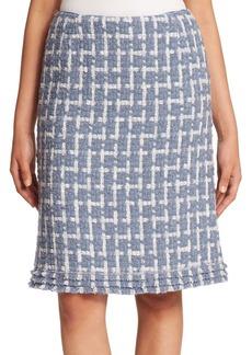 Lafayette 148 New York Brulee Scottish Tweed Adalyn Skirt