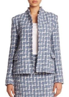 Lafayette 148 New York Brulee Scottish Tweed Hollis Jacket