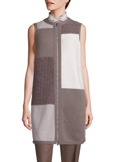 Lafayette 148 New York Brush Fusion Patchwork Vest